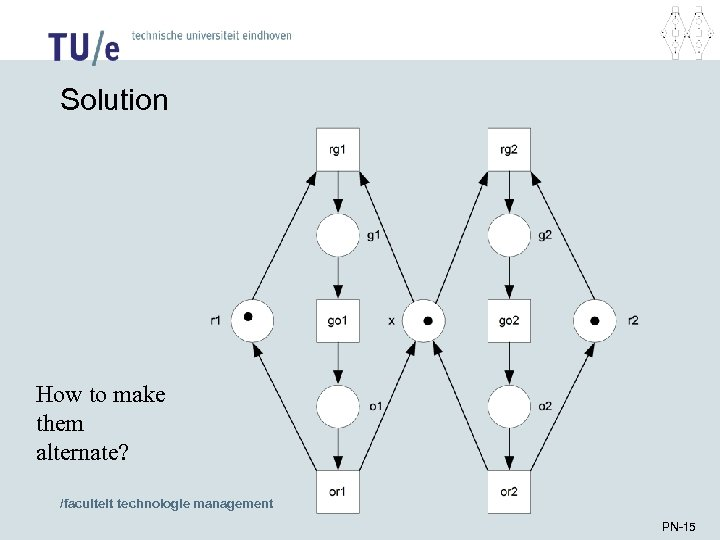 Solution How to make them alternate? /faculteit technologie management PN-15