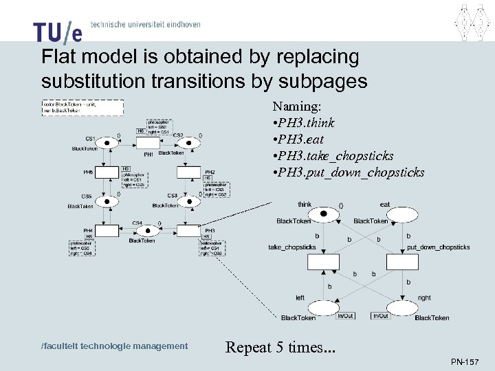 Flat model is obtained by replacing substitution transitions by subpages Naming: • PH 3.