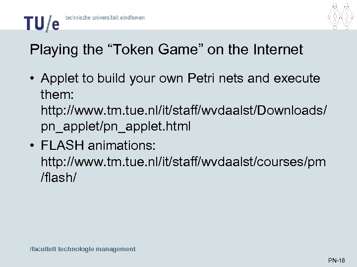 "Playing the ""Token Game"" on the Internet • Applet to build your own Petri"