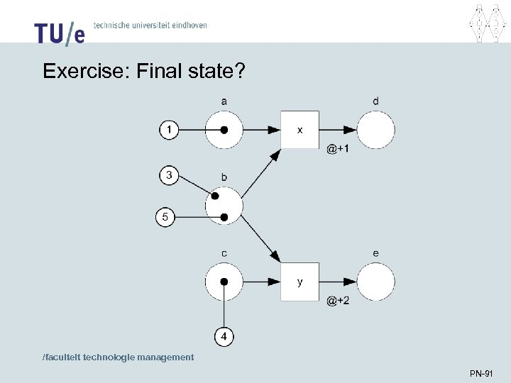 Exercise: Final state? /faculteit technologie management PN-91