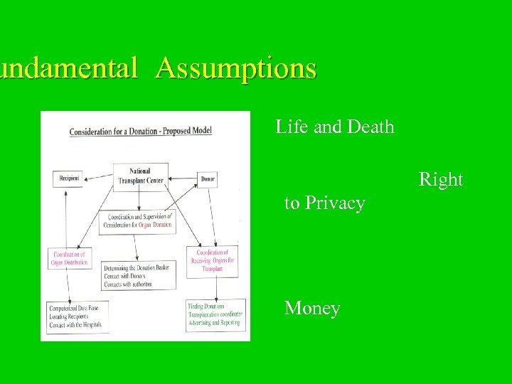 undamental Assumptions Life and Death Right to Privacy Money