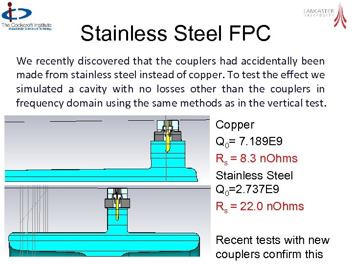 Stainless Steel FPC We recently discovered that the couplers had accidentally been made from