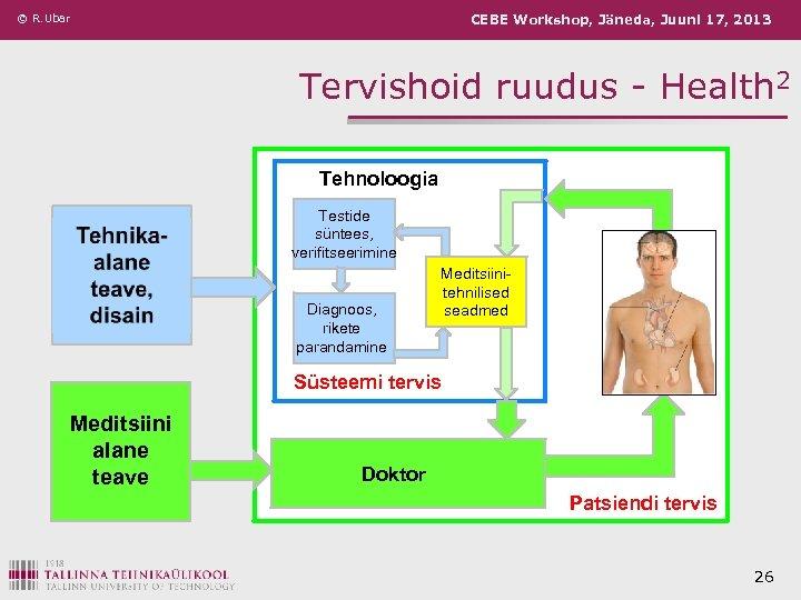 © R. Ubar CEBE Workshop, Jäneda, Juuni 17, 2013 Tervishoid ruudus - Health 2