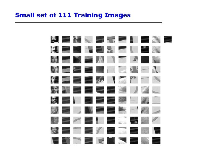 Small set of 111 Training Images