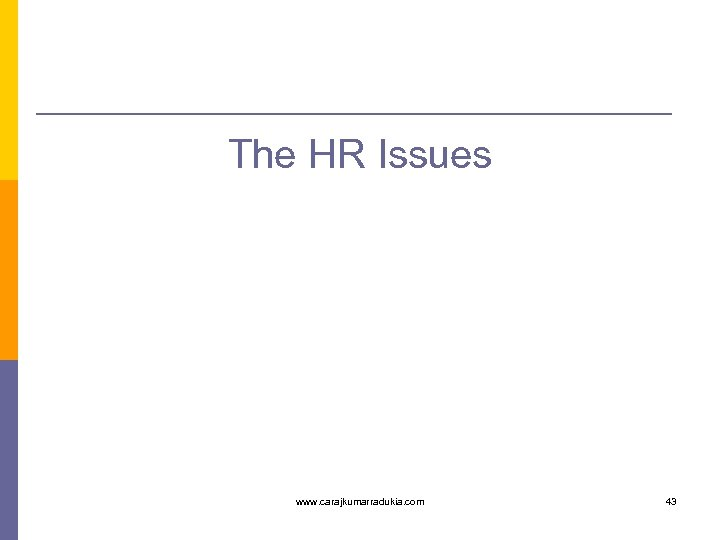 The HR Issues www. carajkumarradukia. com 43