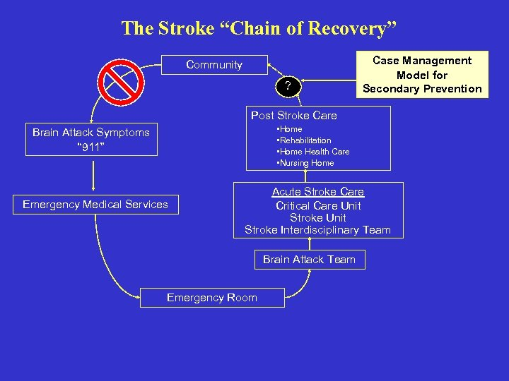 "The Stroke ""Chain of Recovery"" Community ? Case Management Model for Secondary Prevention Post"