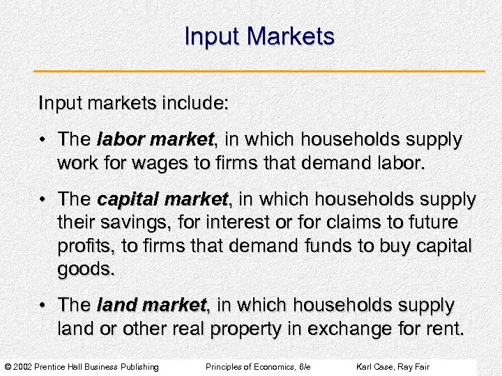 what is input market
