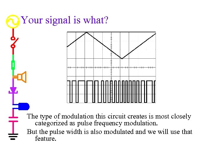 Your signal is what? The type of modulation this circuit creates is most closely