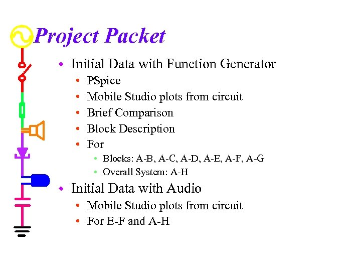 Project Packet w Initial Data with Function Generator • • • PSpice Mobile Studio