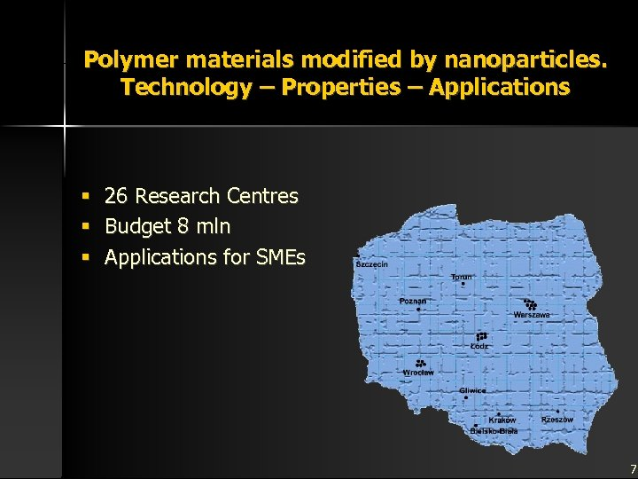 Polymer materials modified by nanoparticles. Technology – Properties – Applications § § § 26