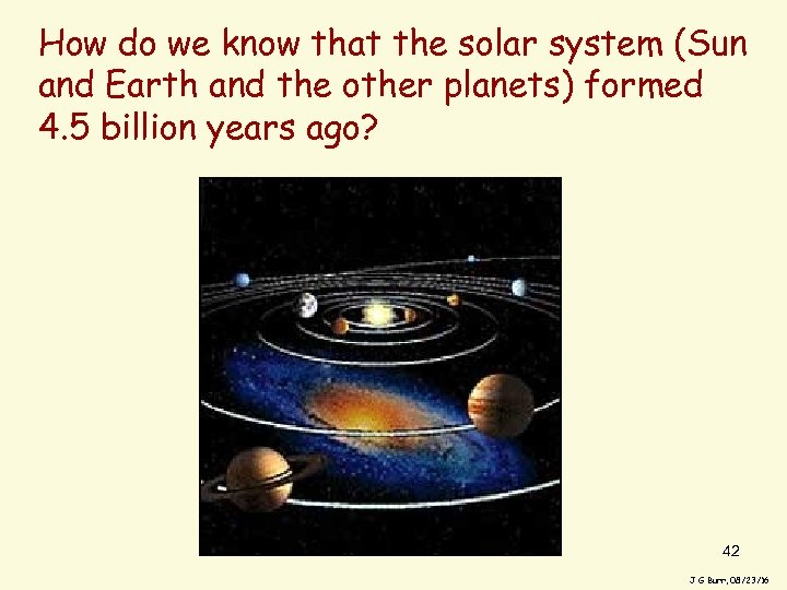 How do we know that the solar system (Sun and Earth and the other