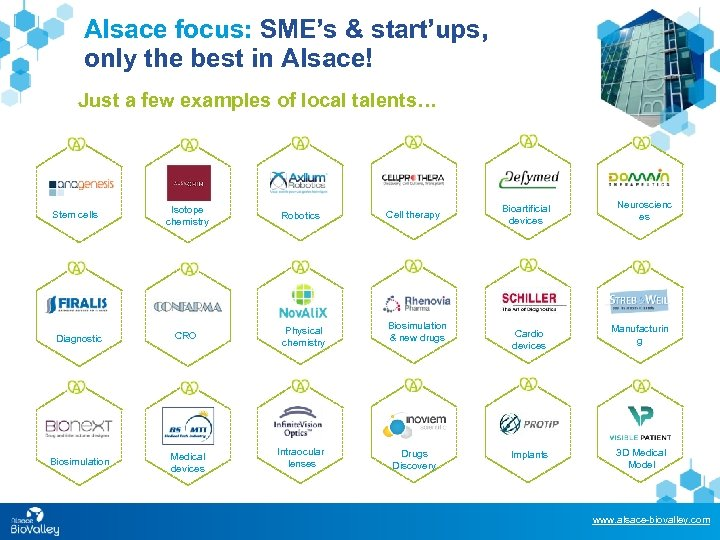 Alsace focus: SME's & start'ups, only the best in Alsace! Just a few examples