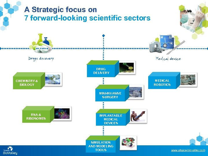 A Strategic focus on 7 forward-looking scientific sectors DRUG DELIVERY MEDICAL ROBOTICS CHEMISTRY &
