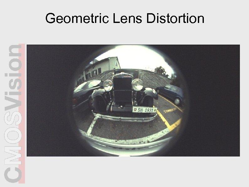 Geometric Lens Distortion