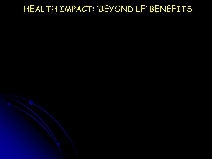HEALTH IMPACT: 'BEYOND LF' BENEFITS