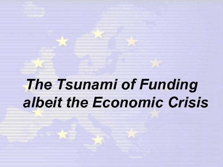 The Tsunami of Funding albeit the Economic Crisis
