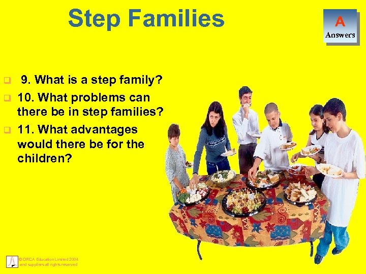 Step Families q q q 9. What is a step family? 10. What problems