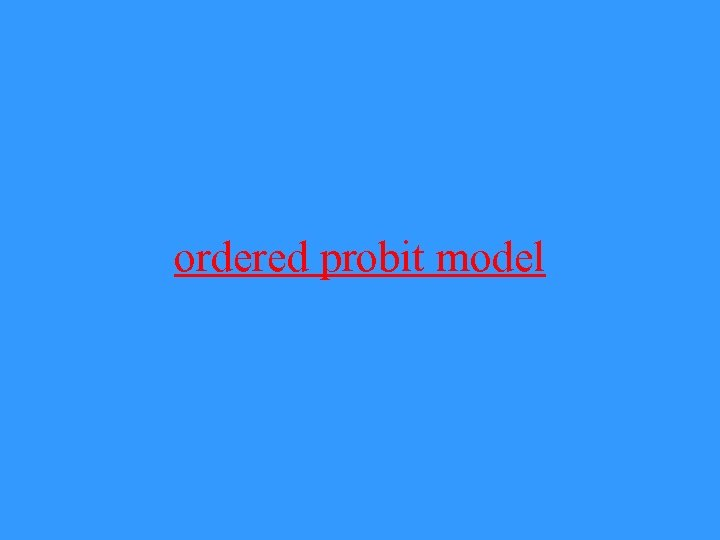 ordered probit model
