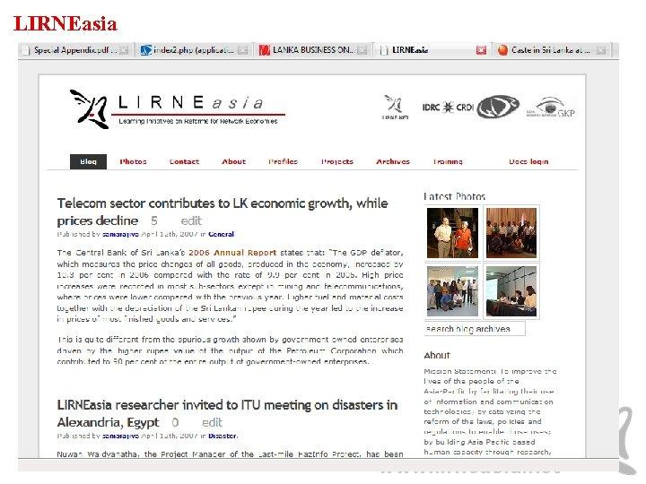 LIRNEasia www. lirneasia. net