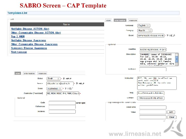 SABRO Screen – CAP Template www. lirneasia. net