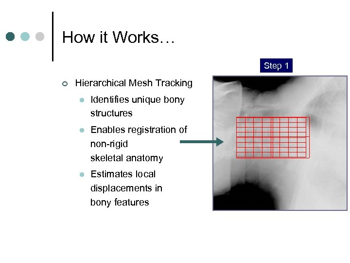 How it Works… Step 1 Step 2 Step 3 ¢ Hierarchical Mesh Tracking l