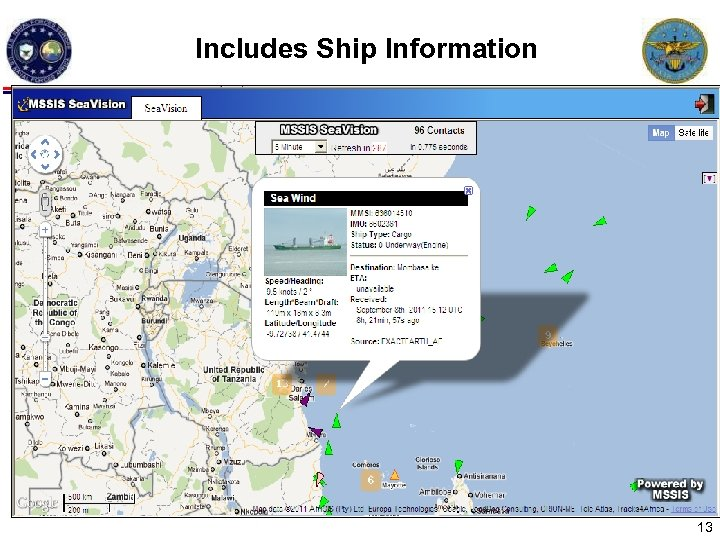 Includes Ship Information Each box is a block of ships 13