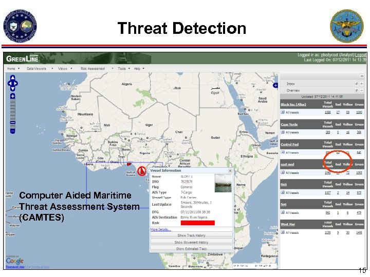 Threat Detection Computer Aided Maritime Threat Assessment System (CAMTES) 15