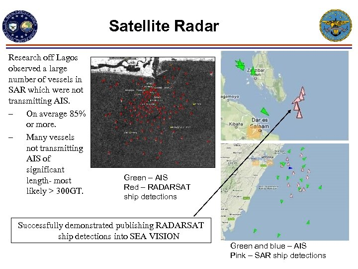 Satellite Radar Research off Lagos observed a large number of vessels in SAR which