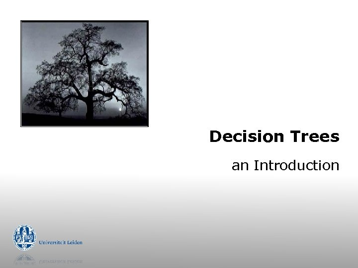 Decision Trees an Introduction