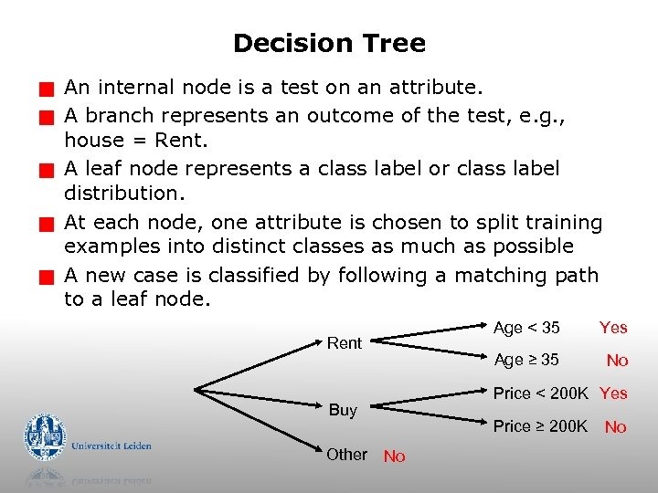 Decision Tree g g g An internal node is a test on an attribute.