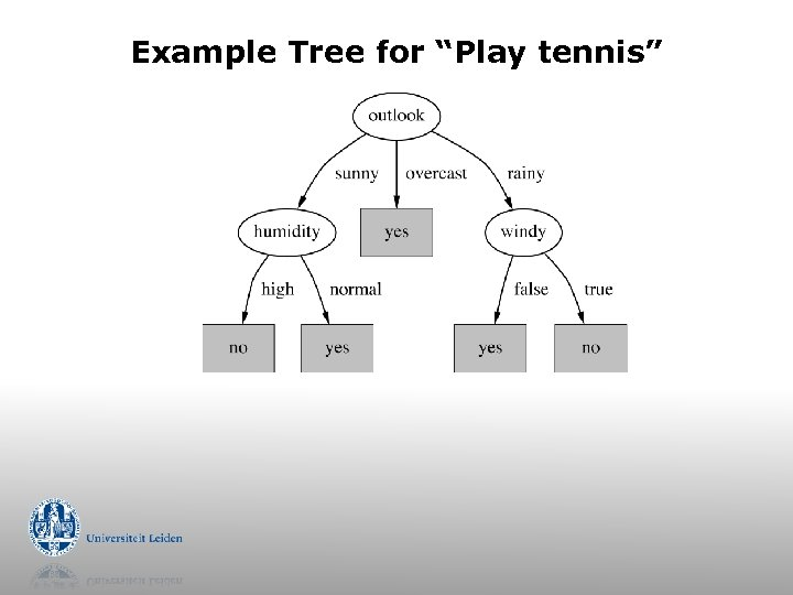 "Example Tree for ""Play tennis"""