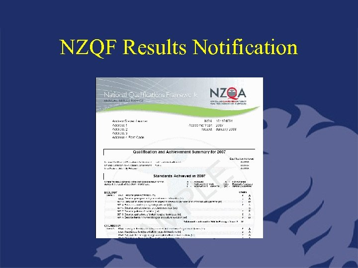 NZQF Results Notification