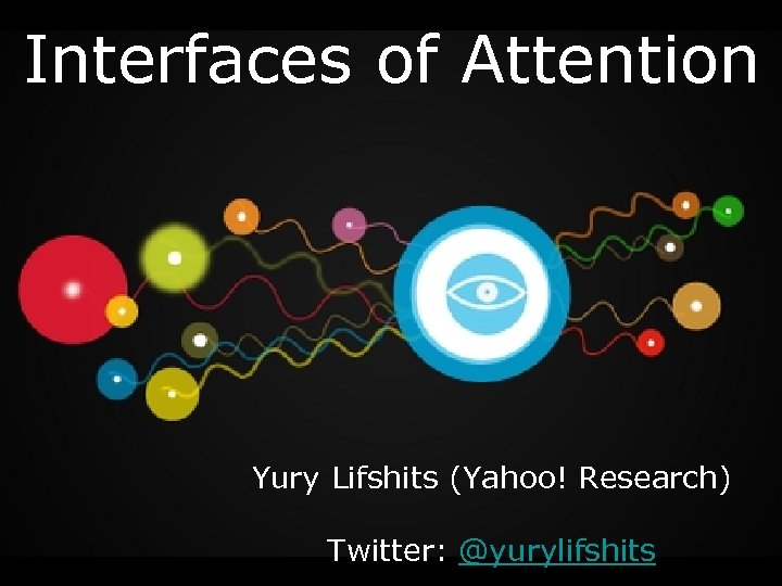 Interfaces of Attention Yury Lifshits (Yahoo! Research) Twitter: @yurylifshits