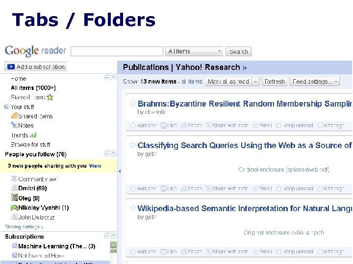Tabs / Folders