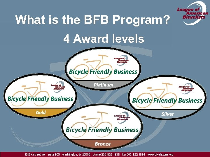 What is the BFB Program? 4 Award levels
