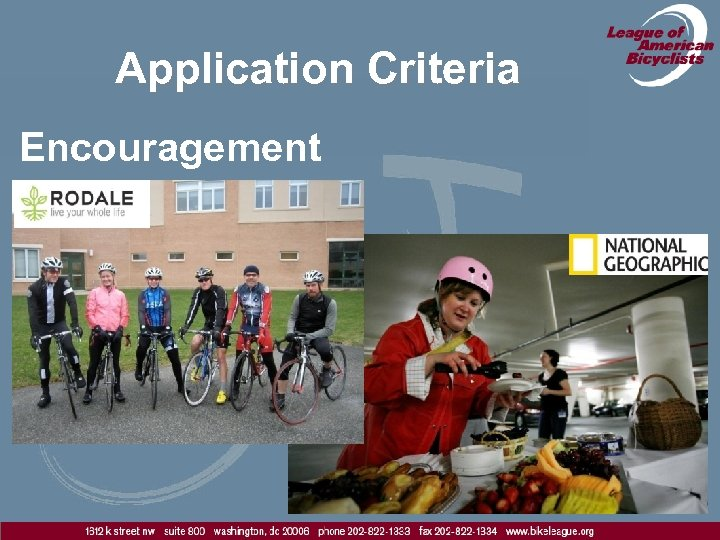 Application Criteria Encouragement