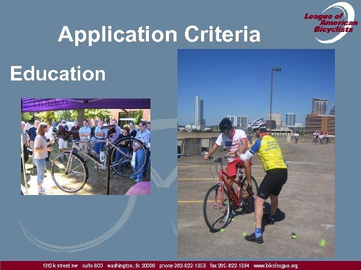 Application Criteria Education