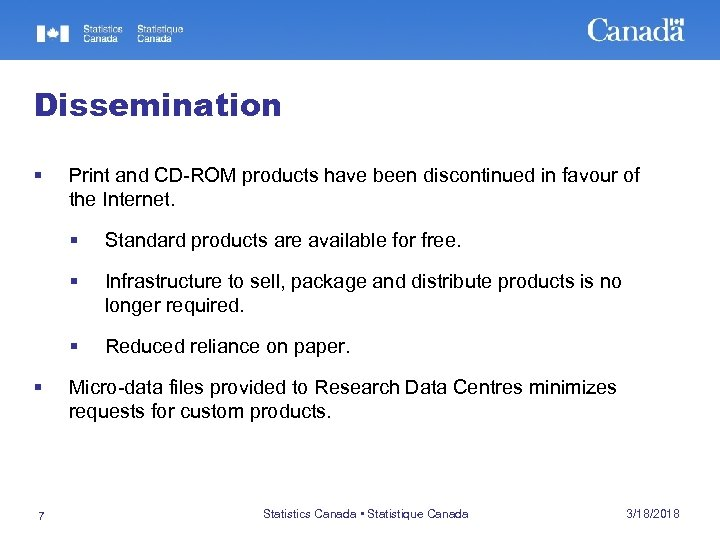 Dissemination § Print and CD-ROM products have been discontinued in favour of the Internet.
