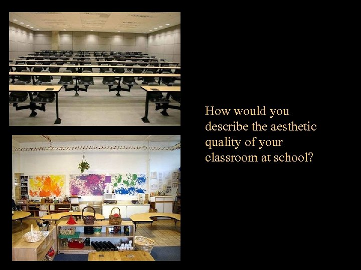 How would you describe the aesthetic quality of your classroom at school?