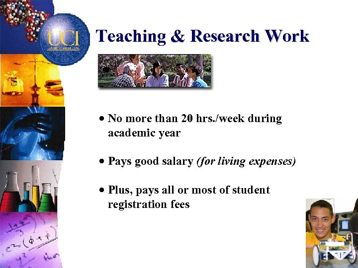 Teaching & Research Work · No more than 20 hrs. /week during academic year