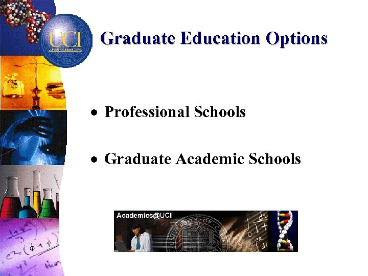 Graduate Education Options · Professional Schools · Graduate Academic Schools