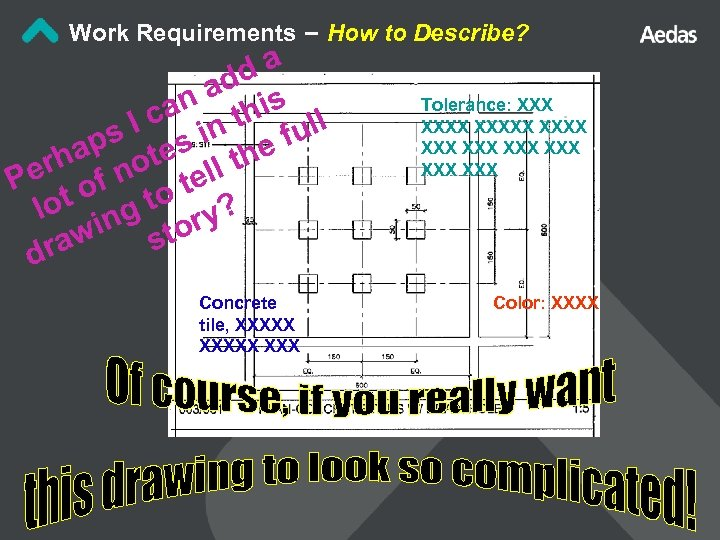 Work Requirements – How to Describe? da ad s an thi ll I c