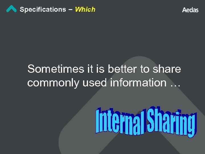 Specifications – Which Sometimes it is better to share commonly used information …