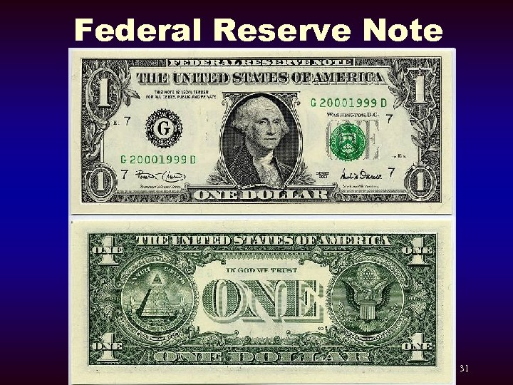 Federal Reserve Note 31