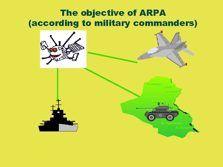 The objective of ARPA (according to military commanders)