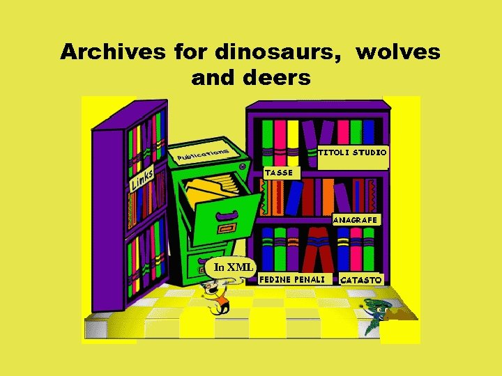Archives for dinosaurs, wolves and deers In XML