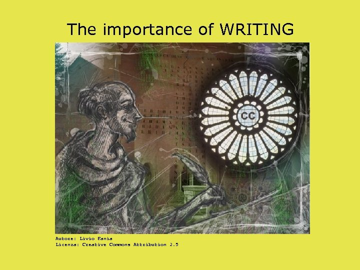 The importance of WRITING Autore: Livio Fania Licenza: Creative Commons Attribution 2. 5