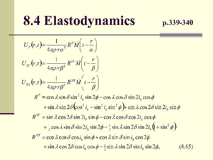 8. 4 Elastodynamics p. 339 -340