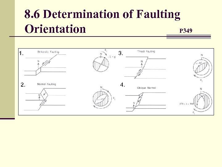 8. 6 Determination of Faulting Orientation P 349 1. 2. 3. 4.
