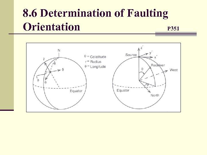 8. 6 Determination of Faulting Orientation P 351